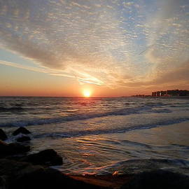 Mike  Sully - Sunset off Breezy Point Queens Rockawy Beach New York City