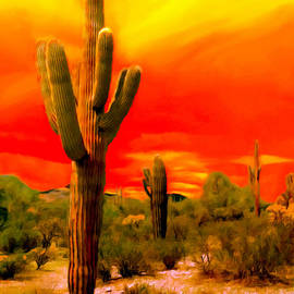 Bob and Nadine Johnston - Sunset Saguaro National Park Arizona
