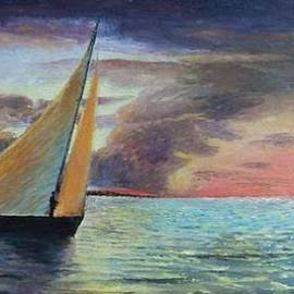 Anne-Elizabeth Whiteway - Sunset Sailing by Edgar Turner Cropped Version