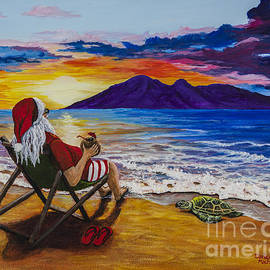 Sunset Santa by Darice Machel McGuire
