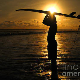 Bob Christopher - Sunset Surfer Corcovado Costa Rica