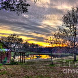 Greensboro GA Workshop Sunset Pond Reflections Landscape Art by Reid Callaway