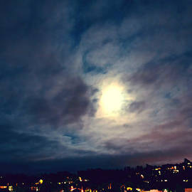 Super Moon Rise Over Rancho Bernardo by Sharon Tate Soberon
