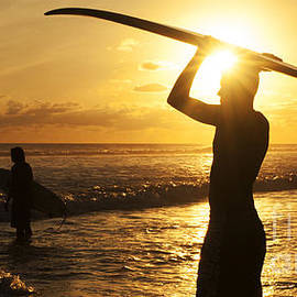 Bob Christopher - Sunset Surfing Corcovado Costa Rica 1