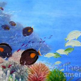 Surgeonfish and Coral by Mary Deal