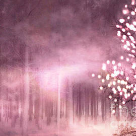 Kathy Fornal - Surreal Nature Trees Sparkling Twinkling Pink Woodlands Trees