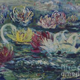 Avonelle Kelsey - Swans in Lilies