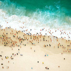 Swimmers Entering The Ocean by Tommy Clarke