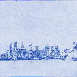Sydney Skyline Blueprint by Kaleidoscopik Photography