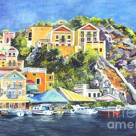 Symi Harbor The Grecian Isle  by Carol Wisniewski