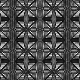 Symmetrical Repeating Pattern In Charcoal  by Barbara St Jean
