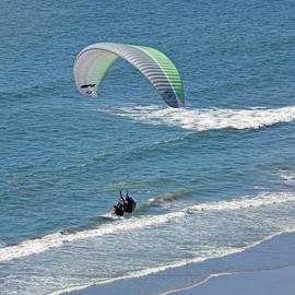 Jim Fitzpatrick - Taking a Photo of Hang Gliders In Daly City by the Pacific Ocean
