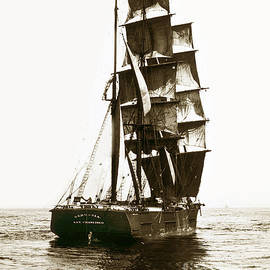 Tall Ship Germania out of San Francisco California  circa 1900 by California Views Archives Mr Pat Hathaway Archives