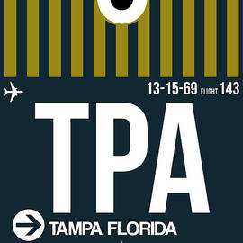 Tampa Airport Poster 1 by Naxart Studio