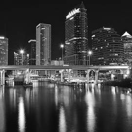 Frozen in Time Fine Art Photography - Tampa Black and White Night