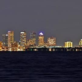 Tampa City Skyline at Night 7 November 2012 by Jeff at JSJ Photography