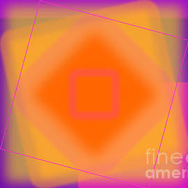 Geraldine Cote - Tangerine and Orange Squares