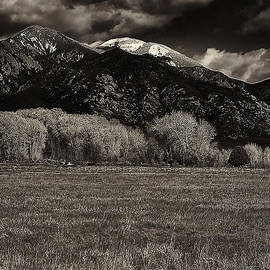 Taos in the Fall B_W by Charles Muhle