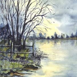 Moonlight Reflections in Loch Tarn in Scotland by Carol Wisniewski
