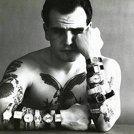 Tattooed Model Wearing Watches by Carl Fischer