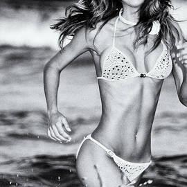 Amyn Nasser - Ms Turkey Tatyana Running Wild In The Ocean Waves - Glamor Girl Photo Art