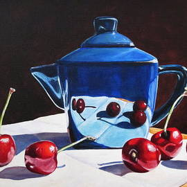 Lillian  Bell - Teapot and cherries