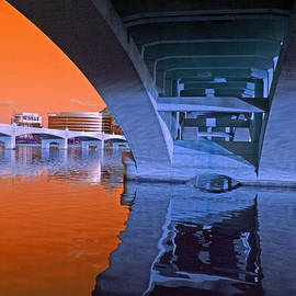 Tempe Town Lake Bridges by Tam Ryan
