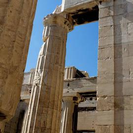 Temple Maze Of Columns by Lorraine Devon Wilke