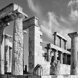 Temple Of Aphaea On Aegina In Greece by Paul Cowan