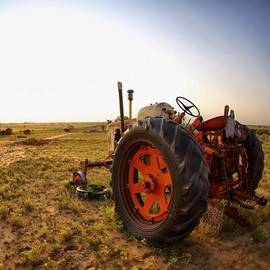 #texas #tractor #sunset