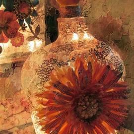 Textured Flower Bottle by Kelly Schutz
