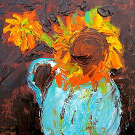 Marita McVeigh - Textured Sunflowers