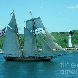 John Malone - American Tall Ship Sails Past McNabs Island