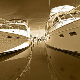The Calm Between The Yachts by Gary Silverstein