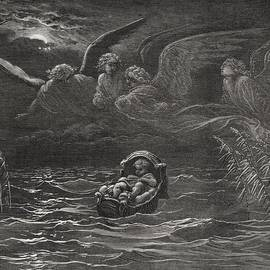 Gustave Dore - The Child Moses on the Nile