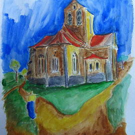 Gary Kirkpatrick - The Church at Auvers sur Oise