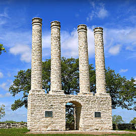 The Columns of Old Baylor at Independence -- 4 by Stephen Stookey