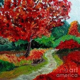 The Crimson Path  - Fall Landscape by Julie Brugh Riffey