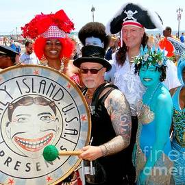 The Deblasios At The Mermaid Parade by Ed Weidman