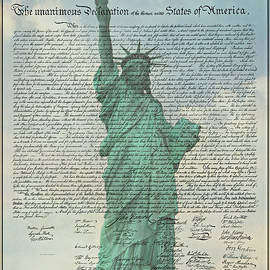 The Declaration of Independence - Statue of Liberty by Stephen Stookey