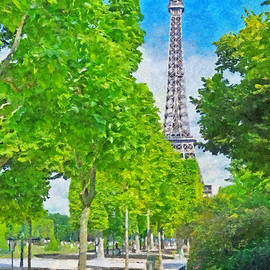 The Eiffel Tower In The Spring Of 2014 by Digital Photographic Arts
