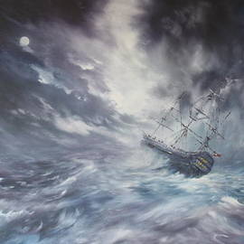 Jean Walker - The Endeavour on Stormy Seas