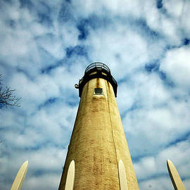 The Fenwick Light And A Mackerel Sky by Bill Swartwout Photography