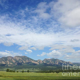 The Flatirons In Spring by Kate Avery