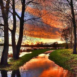 The Flooded Sunset Path by Kim Shatwell-Irishphotographer