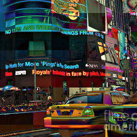 The Fluidity of Light - Times Square by Miriam Danar