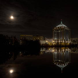 The Full Moon Over The Dudley Tower by Dale Kauzlaric