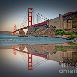 Jim Fitzpatrick - The Golden Gate Bridge and Reflection