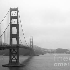 The Golden Gate Bridge B W by Connie Fox
