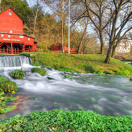 The Hodgson Water Mill - Missouri by Gregory Ballos